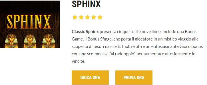 Book of the Sphinx Slots - Prova demon gratis